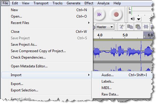 how to add underwater effect in audacity